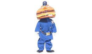 McFans - McDonald's figuur Hamburglar, de politieagent